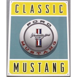 plaque ford mustang logo...