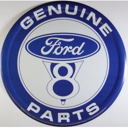 plaque ford V8 parts bleu...