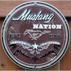plaque ford mustang marron...