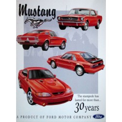 plaque ford mustang 30...