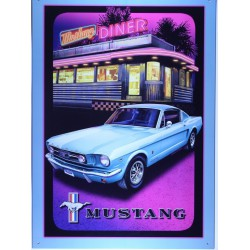 plaque ford mustang devant...