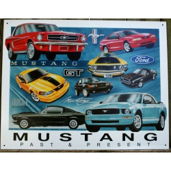 plaque ford mustang past &...