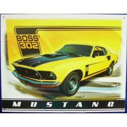 plaque ford mustang boss...