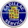 plaque cadillac service ronde bleue deco metal pub garage