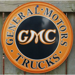 plaque gmc truck ronde...