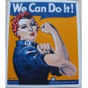 plaque we can do it rosie la rivetuse tole deco usa affiche