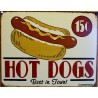 plaque hot dogs best in town tole deco diner restaurant usa