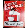 plaque electric magic mixer tole deco cuisine restaurant bar