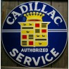 plaque cadillac authirized service 60cm tole deco garage usa