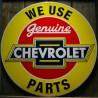 plaque chevrolet parts jaune 60cm tole pub affiche usa metal