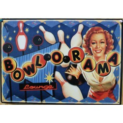 plaque pin up bowlorama...