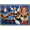 plaque pin up bowlorama quille deco tole affiche  bowling us