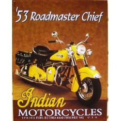 plaque indian 53 roadmaster...