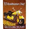 plaque indian 53 roadmaster chief affiche tole biker moto