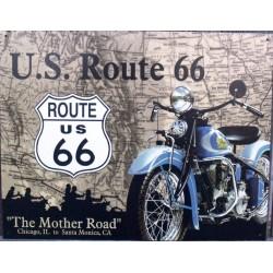 plaque route 66 moto mother...