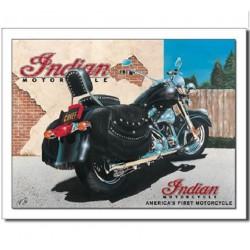 plaque indian chief moto...