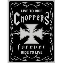 plaque live to ride chopper...