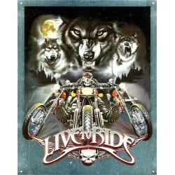 plaque live to ride loup et...