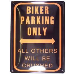plaque biker parking only...