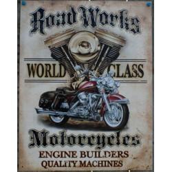 plaque road works moto...