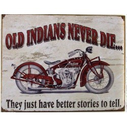 plaque olds indian never...