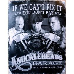 plaque knucklehead garage...