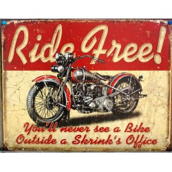 plaque ride free vieille...
