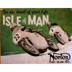 plaque norton  sle of man...