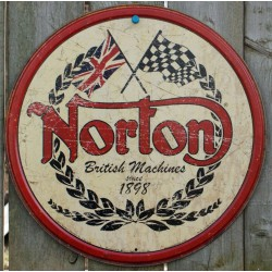 plaque norton  logo tole...