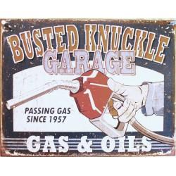 plaque busted knukle garage...