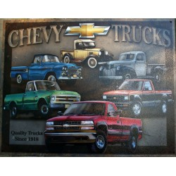 plaque chevrolet truck pick...