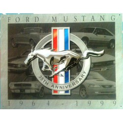 plaque ford mustang 35°...