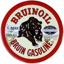 plaque bruinoil gasoline...