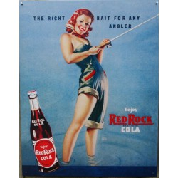 plaque soda red rock cola...