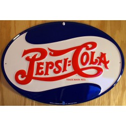 plaque pepsi cola logo oval...