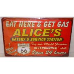 plaque route 66 alice...