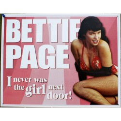 plaque bettie page  en...