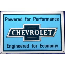 plaque chevrolet powered...