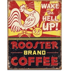plaque coffee rooster coq...