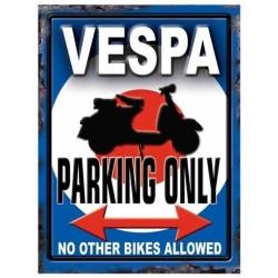 plaque vespa parking only...
