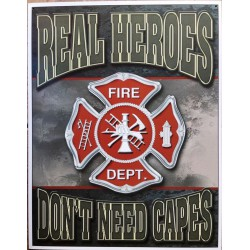 plaque pompier real heroes...