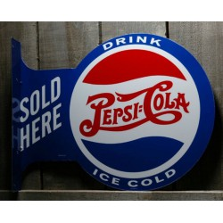 plaque pepsi cola double...