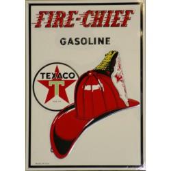plaque texaco fire chief...