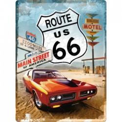 plaque route 66 pontiac...