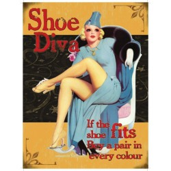 plaque pin up shoe diva...