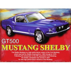 plaque ford mustang shelby...