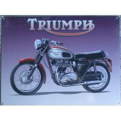 plaque moto triumph tole...