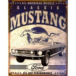plaque ford mustang classic...
