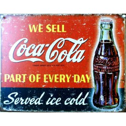 plaque coca cola we sell...