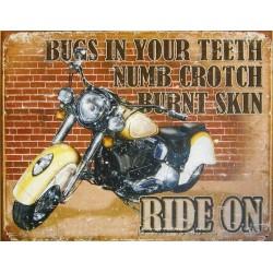 plaque moto ride on affiche...